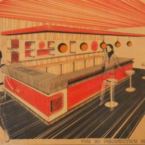 Perspective comptoir années 70 ARANDA-MAS