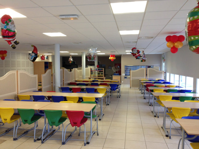 salle de restaurant de l'école internationale