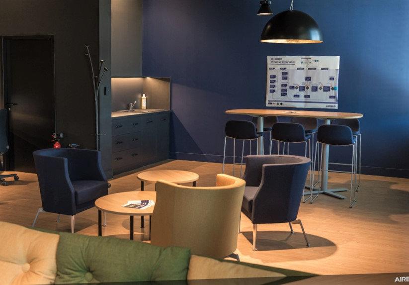 Agencement espace collaboratif pour Airbus