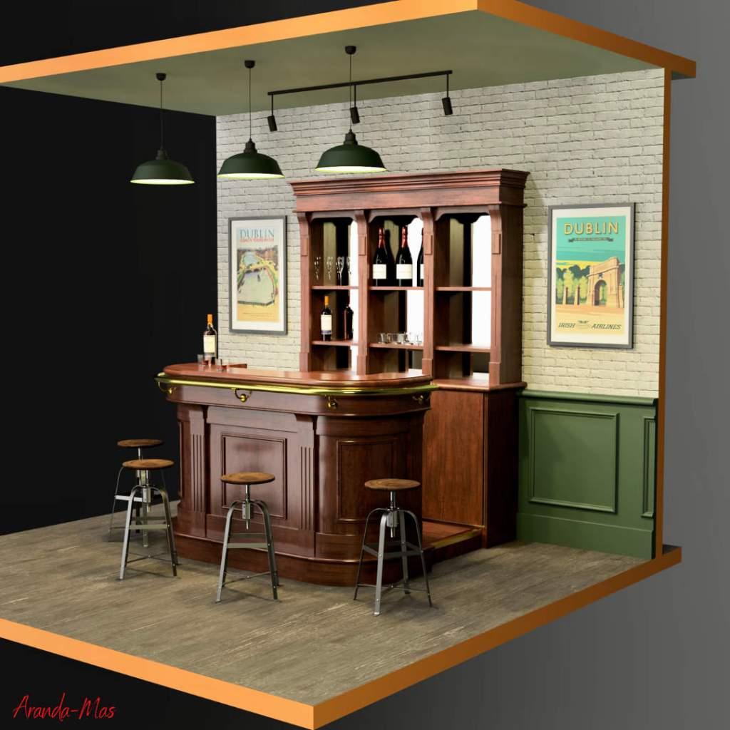 Mini-bar style Pub Anglais