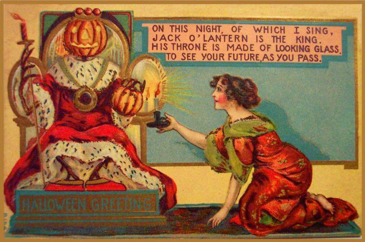 vintage halloween free printable birthday cards 229746 - Halloween en la epoca victoriana