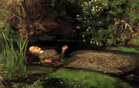 Arte prerrafaelita: Ophellia de Johen Everett Millais