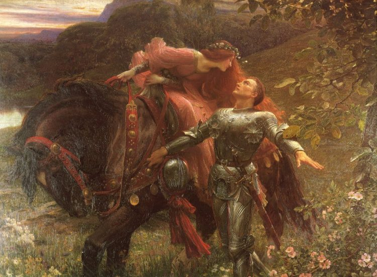 Arte prerrafaelita: La belle dame sans merci de Francis Bernard Dicksee