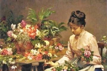 victor gabriel gilbert american artist 1847 1933 the flower seller 1340472296 b - Época victoriana | El lenguaje de las flores o floriografía