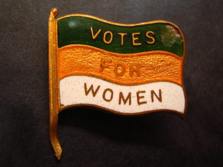 Sufragistas: pin de Vote for Women