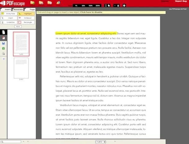 Come evidenziare testo PDF