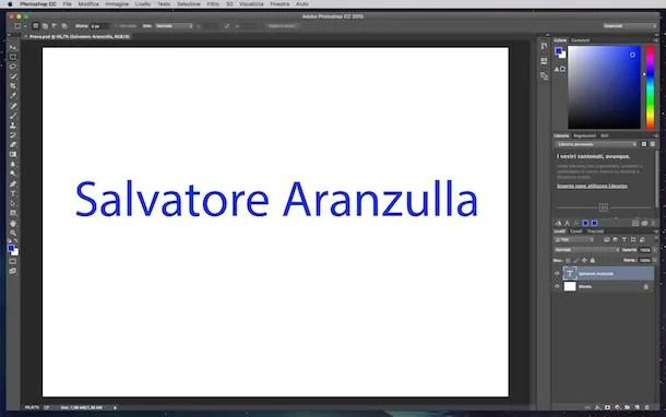 Снимок экрана Photoshop на Mac