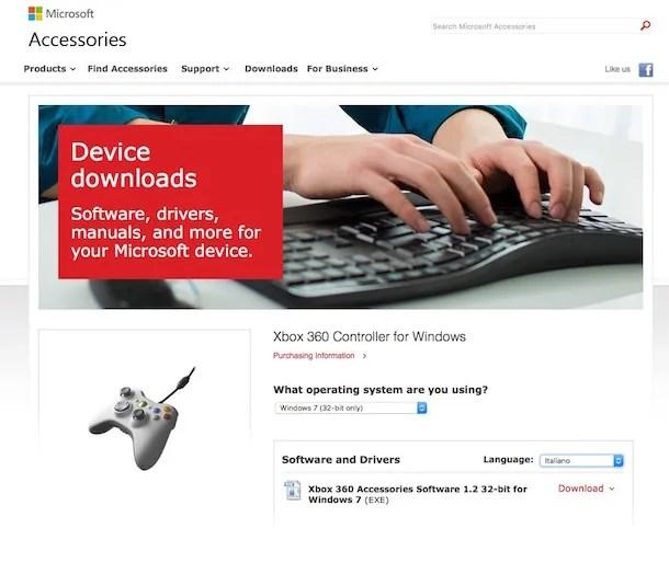 Screenshot che mostra come collegare controller Xbox al PC