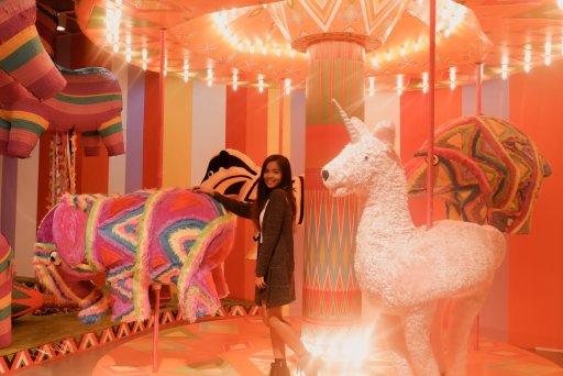 "ALT=""the carousel inside the pinata rooml"""