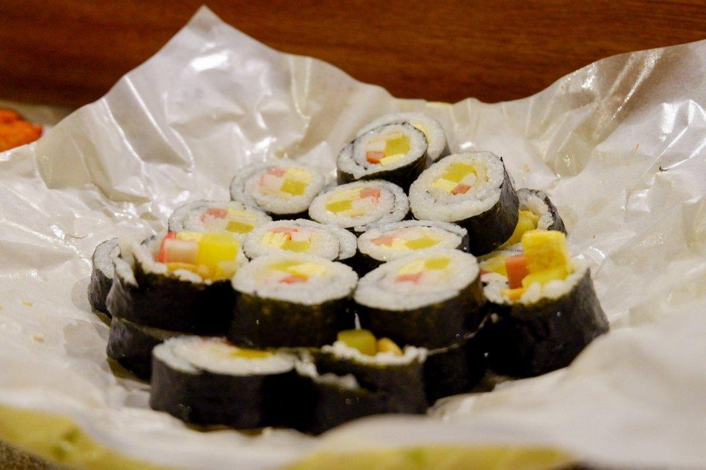 "ALT=""kimpbap side dish at go kizip korean restaurant malate manila"""