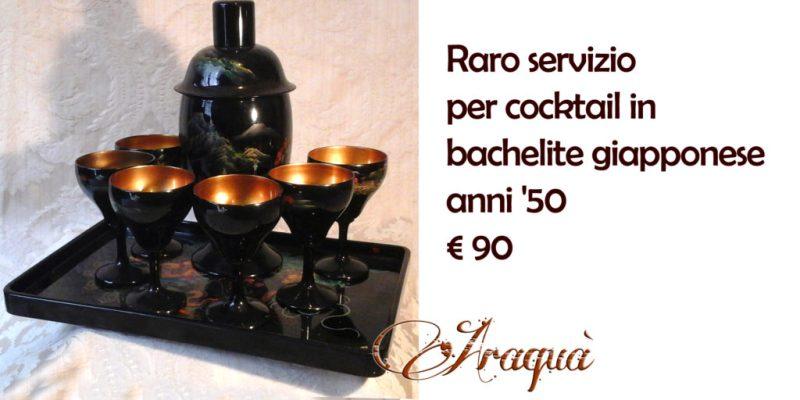 Raro servizio in bachelite giapponese per cocktail anni '50 - € 90