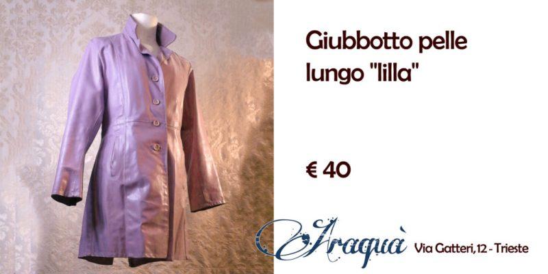 """Giubbotto pelle lungo """"lilla"""" - € 40"""