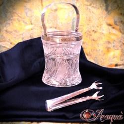 Secchiello ghiaccio silver e cristallo - € 18