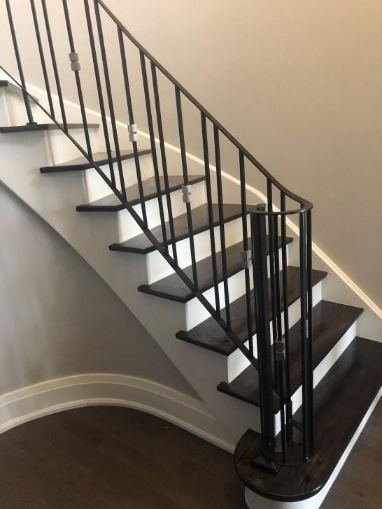 Wrought Iron Railing Interior Stair Designs | Wrought Iron Handrails Near Me