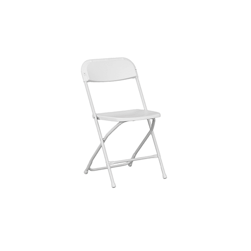 folding chair emoji where to get chairs reupholstered white plastic ara s party rentals