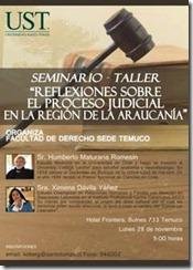 Seminario-taller con Humberto Maturana organiza la Escuela de Derecho de la UST