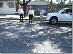 Municipio intervino calles en mal estado en Villarrica