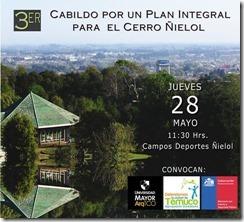 afiche 3er cabildo cerro ñielol