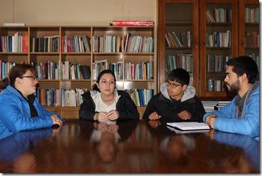 Sesión de trabajo grupal Aprendizaje servicio