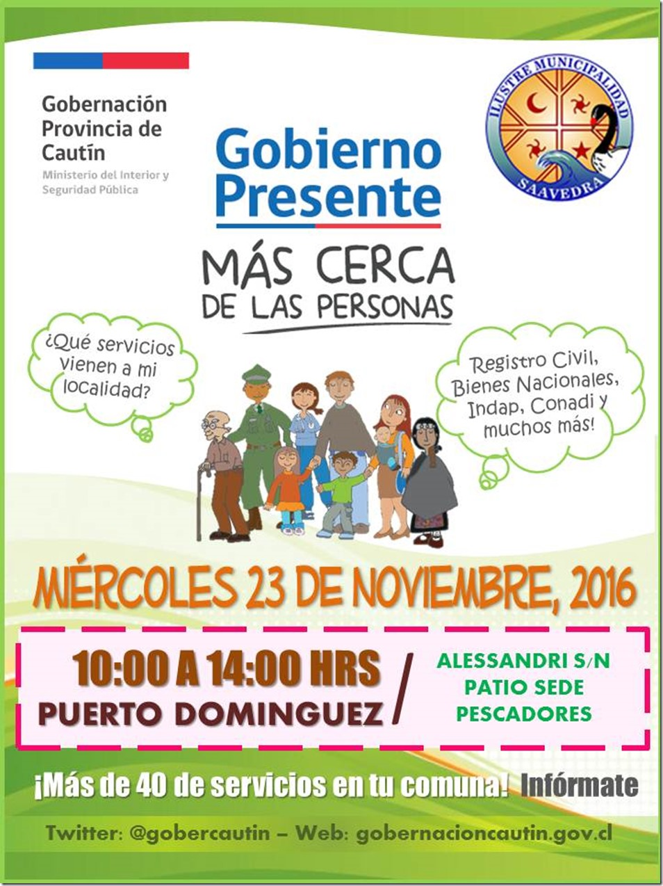 Gobierno Presente en Puerto Domínguez - Saavedra