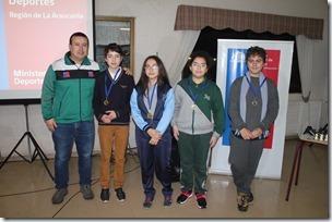 campeones regionales ajedrez 2017 JDE La Araucanía sub 14