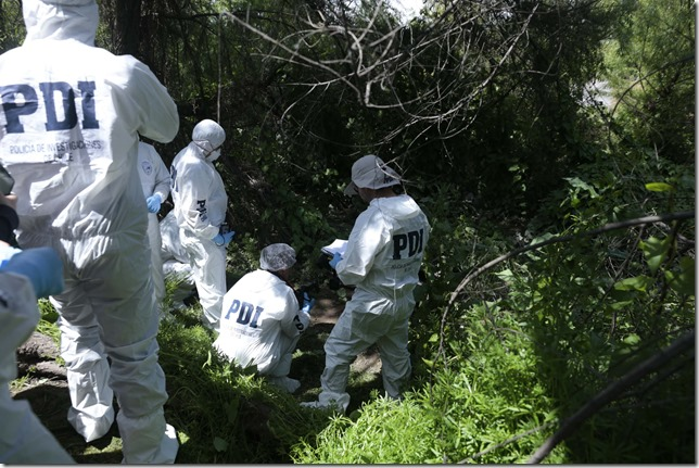 0852 Jenaup, briup busqueda sitio del suceso del funcionario detective desaparecido en Rinconada de Maipú 22-10-2015 fpb
