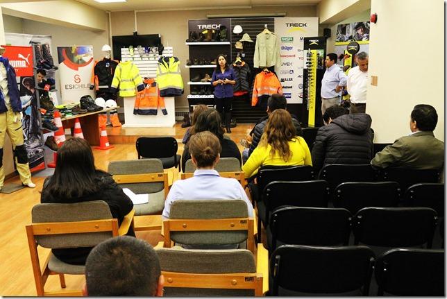 Empresas efectuaron exposición de Elementos de Protección Personal para equipos en terreno  (1)