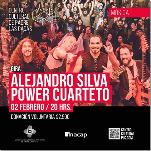 AFICHE - Alejandro Silva Power Cuarteto - FEBRERO
