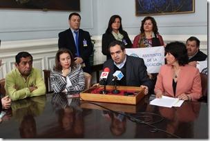 punto prensa parlamentarios y confemuch