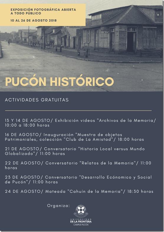 ACTIVIDADES PUCON HISTORICO