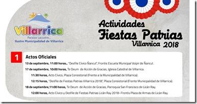 Villarrica celebra el mes de la Patria con nutrido programa  para toda la familia