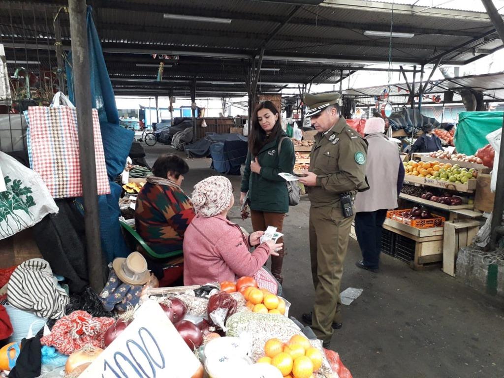869fa84ac Comisaría en conjunto con la Municipalidad, llegaron hasta el sector Feria  Pinto y la Plaza de Armas de Temuco para hacer un llamado a la comunidad a  no ...