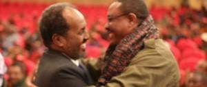 Madaxweye Xasan Sheekh iyo Raysal Wasaraha Ethiopia Haile