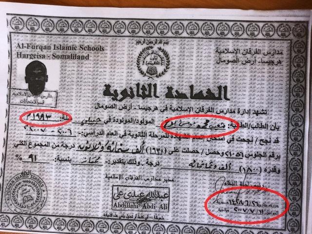 Fake Furqaan Sec Certificate.marked