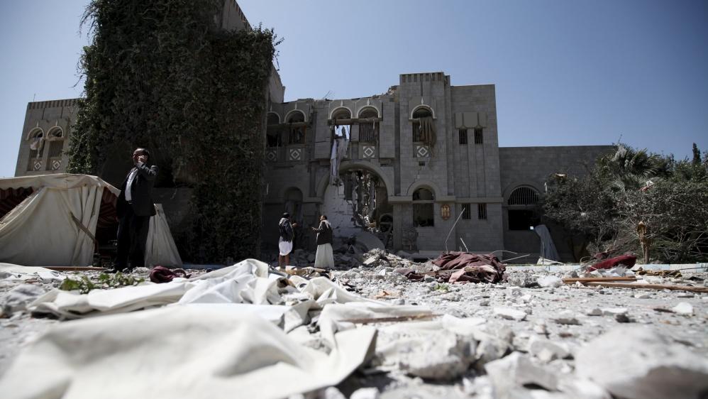 Saleh's home bombed