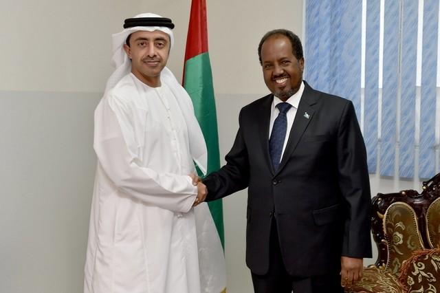 Sheikh Abdullah bin Zayed meets the Somali presiden