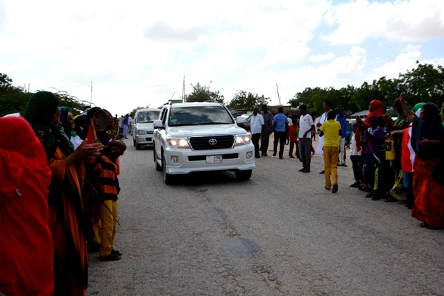 Somaliland President convoy to  Berbera