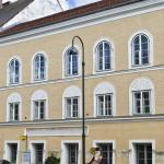 This file photo taken on September 20, 2012 shows the house where Adolf Hitler was born in Braunau, Austria.
