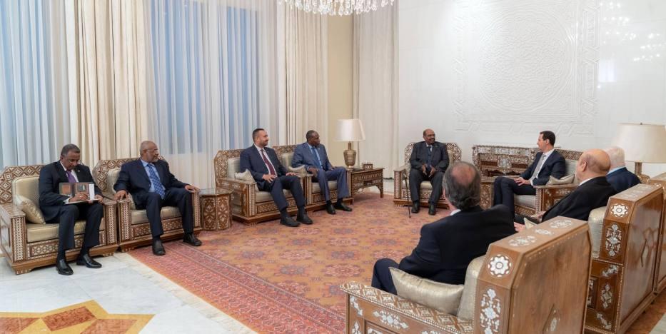 Bashar Al-Assad in eight years on 16 December 2018 – [Syrian Presidency/FaSudanese President Omar Al-Bashir becomes the first Arabic leader to meet his Syrian counterpart Facebook]