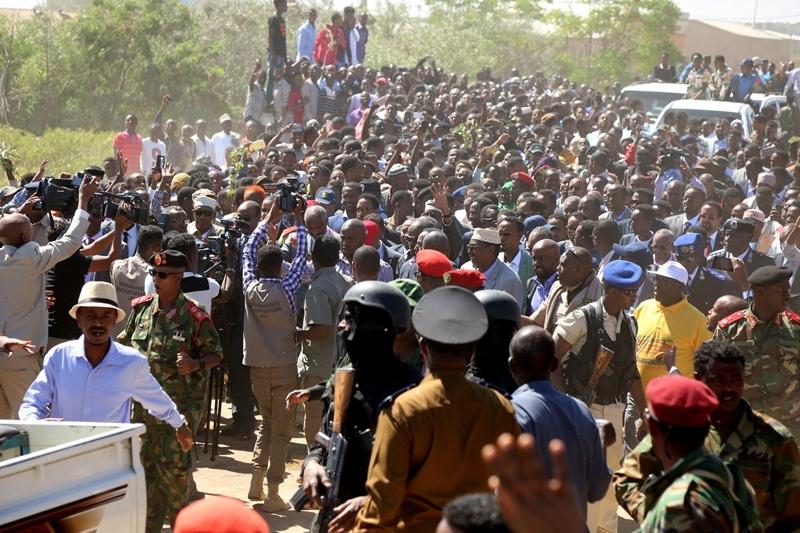 Dadweynaha kusoo dhoweeyay Wajaale Madaxweynaha Jamhuuriyadda Somaliland, Mudane Muuse Biixi Cabdi iyo madaxweynaha dawlad-deegaanka Soomaalida Itoobiya, Mudane Mustafe Maxamuud Cumar 21 Dec 2018.