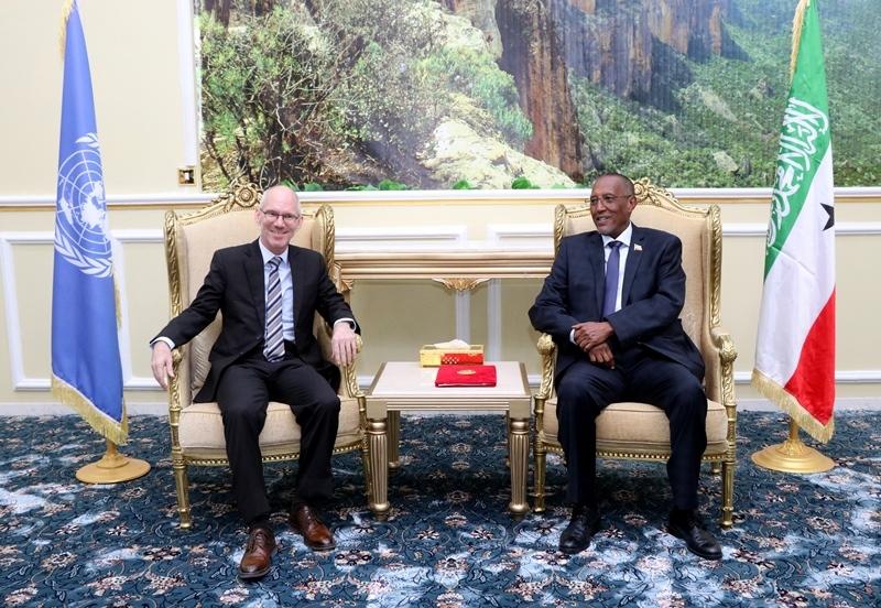 Madaxweynaha Somaliland Muuse Bixii iyo Ambassador James Swan 28 July 2019