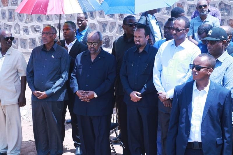 Madaxda ka qaybgashay aaska qaran ee Maareeyihii Dekeddaha Djibouti Marxuum Sacad Cumar Geelle 10 Oct 2019.