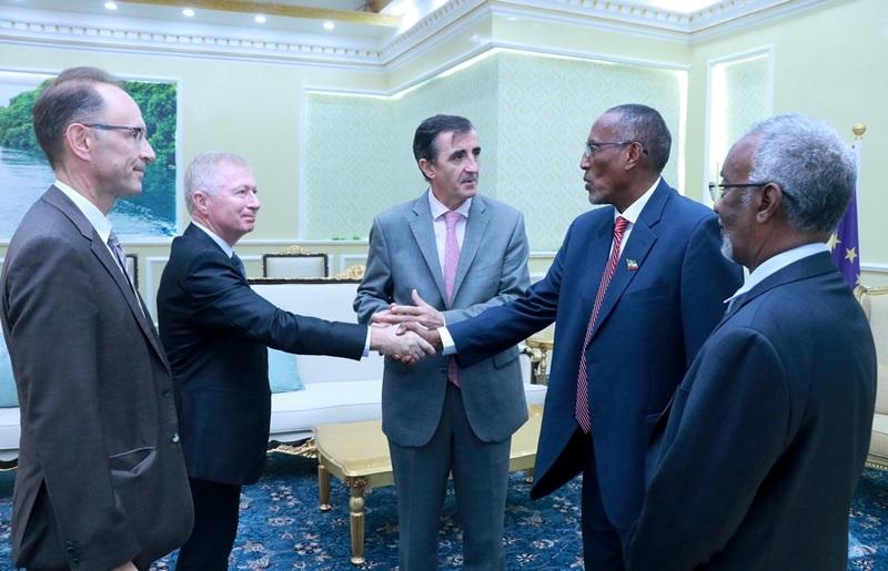 Madaxweynaha Somaliland Muuse Biixi oo ku qaabilay Madaxtooyadda Wefdiga Amb. Nicolás Berlanga Martínez. 9 Oct 2019.