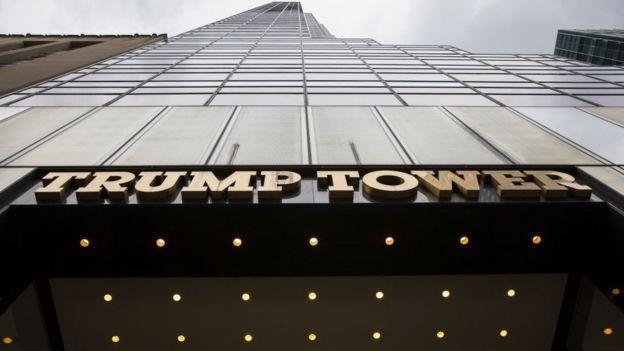 Getty Images Image caption Mr Trump ayaa degana adhismaha Trump Tower tan iyo 1983