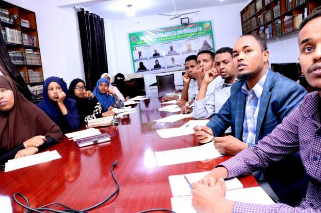 Shaqaalaha Tobabbarka ka qaybqaadanaya ee Wasaaradda Diinta iyo Awqaafta Jamhuuriyadda Somaliland, Xarunta Wasaaradda,  5 Jan, 2020. Araweelo News Network.