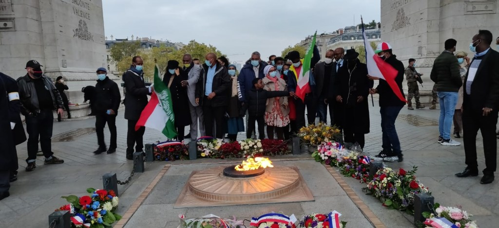 Somaliland Diaspora Community in France and vastly appreciates celebrating memorial of the WW I & WW II Combatants of Somaliland origin for the second time on the Saturday, Oct 17, 2020 in Paris. Image file Araweelo News Network