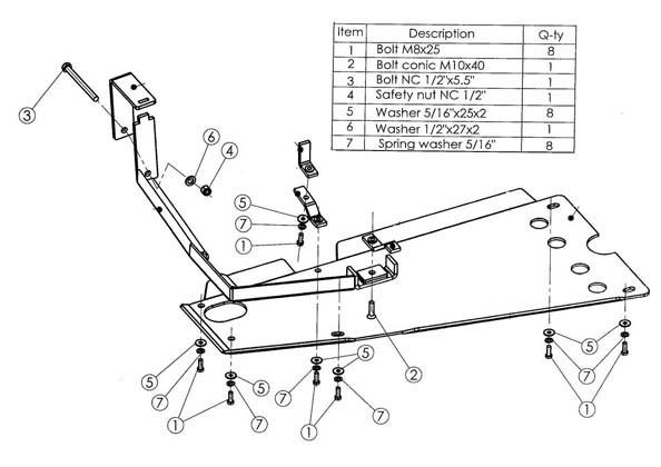 Kryt manuální převodovky Hilux 05-15