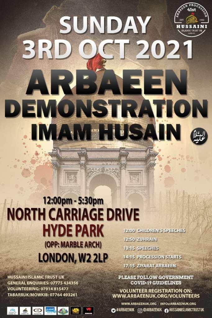 Arbaeen UK 2021 Poster