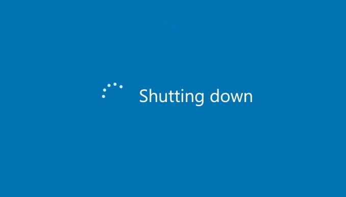 اغلاق ويندوز 10 دون تثبيت أي تحديثات