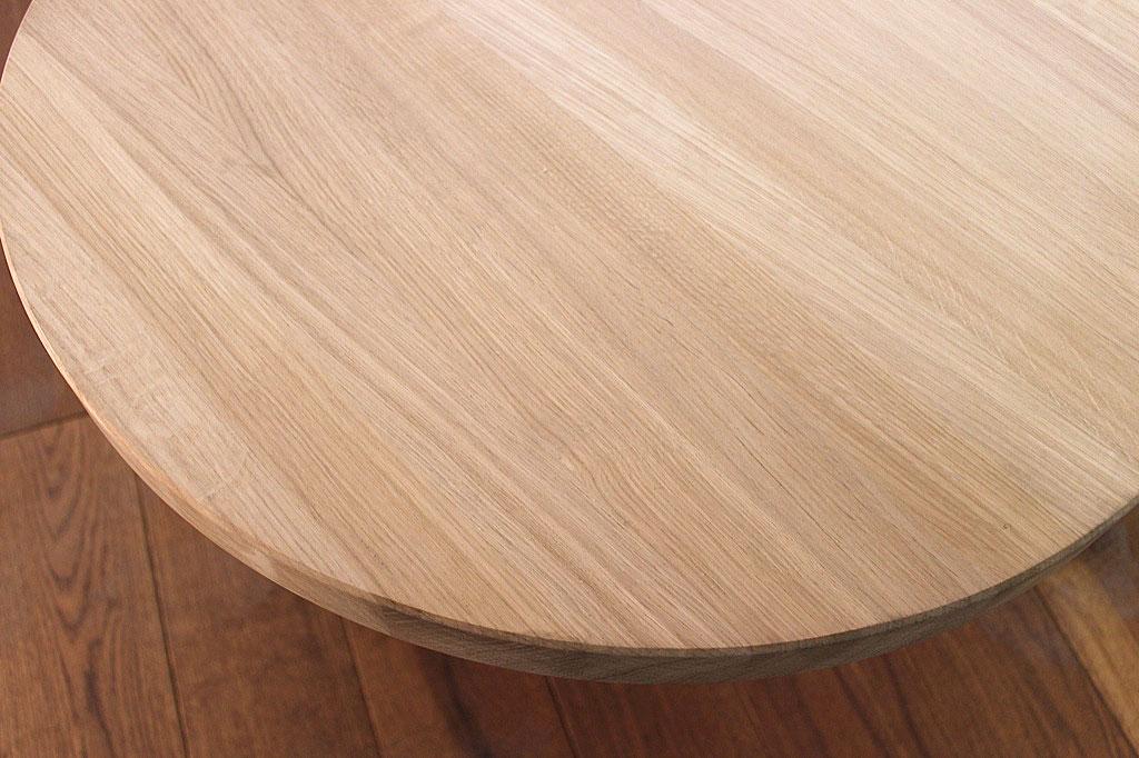 Tischplatte rund  Massivholz Eiche DL 40 mm x diverse